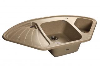 Мойка мрамор CORNER GF-C--1040E GRANFEST угловая  песок