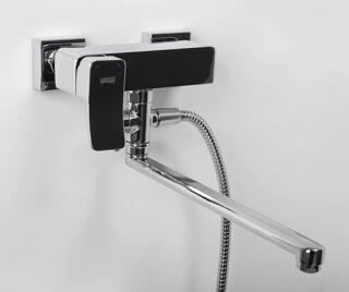 Смеситель для ванны WasserKRAFT   с длинным изливом Aller 1062L
