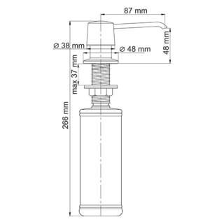 Встраиваемый дозатор для мыла WasserKRAFT 320 ml К-1099