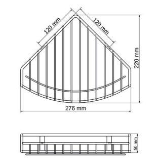 Полка металлическая угловая WasserKRAFT K-1711