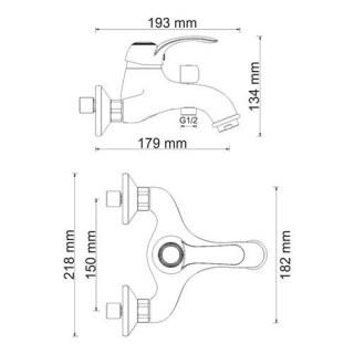 Смеситель для ванны WasserKRAFT с коротким изливом Isar 1301