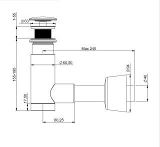 Сифон для раковины PREVEX Easy Clean 1512426