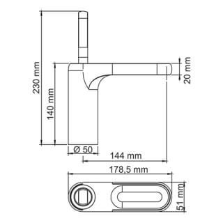 Смеситель для раковины WasserKRAFT Kammel 1803