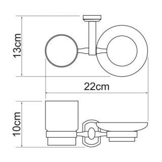 Держатель стакана и мыльницы WasserKRAFT K-3026