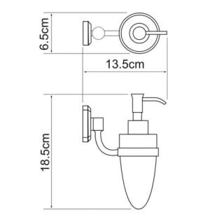 Дозатор для жидкого мыла стеклянный WasserKRAFT, 160 мл K-3099
