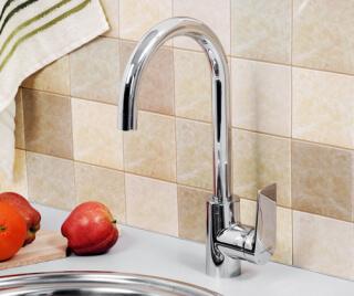 Смеситель для кухни Lopau 3207 WasserKRAFT с поворотным изливом