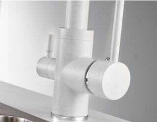 Смеситель для кухни MATRIX SMF-323607/WT 2 в 1 с краном для питьевой воды