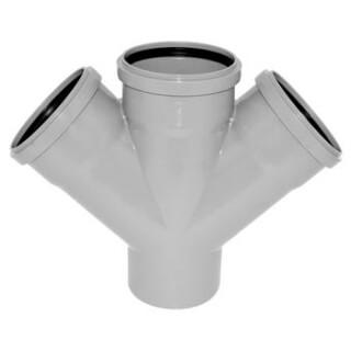 Крестовина канализационная РОССИЯ угол 45° D=110