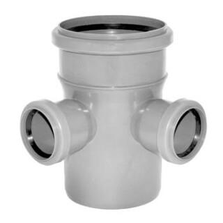 Крестовина канализационная 90° D=110/50/50 (3722)