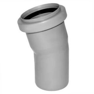 Отвод канализационный РОССИЯ угол 15° D=50 (3727)