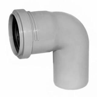 Отвод канализационный РОССИЯ угол 90° D=50 (3731)