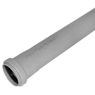 Труба канализационная РОССИЯ L=50см D=50 (3760)