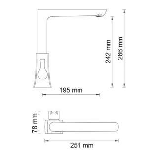 Смеситель для кухни WasserKRAFT с поворотным изливом Berkel 4807