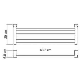 Полка для полотенец WasserKRAFT К-5011