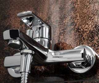 Смеситель для ванны с коротким изливом WasserKRAFT Dill 6101