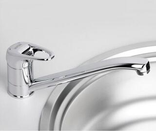 Смеситель для кухни WasserKRAFT с поворотным изливом Oder 6307
