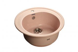 Мойка мрамор RONDO GF-R--510 GRANFEST светло-розовый
