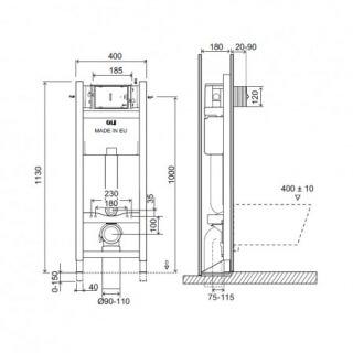 Инсталляция Expert plus (0400*1130*0150), механическая