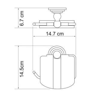 Держатель туалетной бумаги с крышкой WasserKRAFT К-7325
