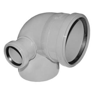 Отвод канализационный левый D=110/90/50