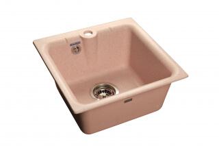Мойка мрамор PRACTIK GF-P--420 GRANFEST светло-розовый
