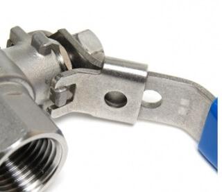 Кран шаровой с замком AISI 304 SM-SB1004 3/4 дюйма F-F (нержавеющая сталь)