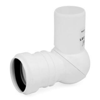 Отвод канализационный регулируемый D=40 (U4N) 9310