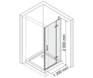 Душевая дверь WasserKRAFT Aller 10H05R распашная на петлях, правая