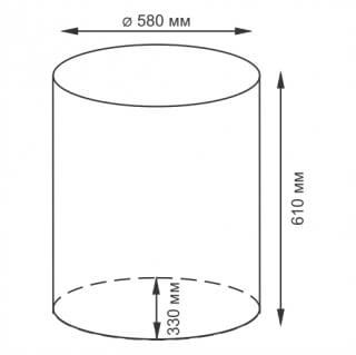 Плетеная корзина для белья с крышкой WasserKRAFT Dill WB-610-L