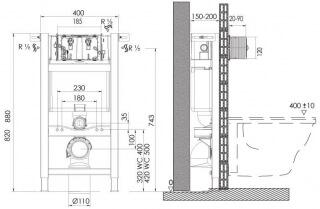 Инсталляционная система EXPERT EVO/SPEED                                                                                                                                Размер (0400/0820/0150).  Пневматическая