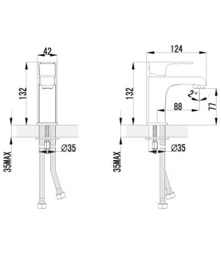 Смеситель Lemark Plus Factor LM1606C для раковины