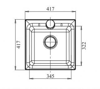 Мойка мрамор PRACTIK GF-P--420 GRANFEST серый