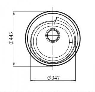 Мойка мрамор RONDO GF-R--450 GRANFEST топаз