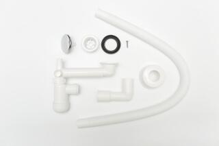 Сифон телескопический для раковины в ванной №8, Prevex