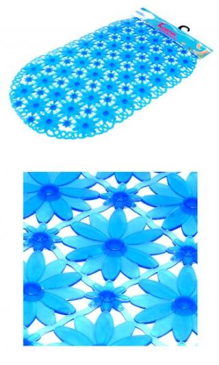 """Коврик для ванной №А11-2 """"РОМАШКА"""" голубой"""