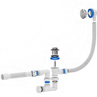 Сифон для ванны лик-клак АНИ ЕС255 GS 1-1/2 дюйма x40/50