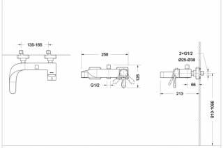 Смеситель Wave (F-774C) для кухонной мойки