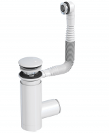 Сифон Prevex для раковины Easy Clean белый № 1, с переливом