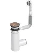 Сифон Prevex для раковины Easy Clean бронза металл № 1, с переливом