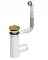 Сифон Prevex для раковины Easy Clean золото металл № 1, с переливом
