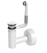 Сифон Prevex телескопический для раковины Easy Clean № 3, клик-клак хром металл