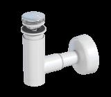 Сифон Prevex телескопический для раковины Easy Clean № 2, клик-клак хром