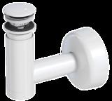 Сифон Prevex телескопический для раковины Easy Clean № 2, клик-клак белый