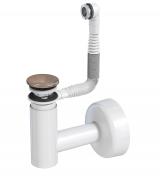 Сифон Prevex телескопический для раковины Easy Clean № 3, клик-клак бронза металл