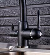 Смеситель для кухни MATRIX SMF-323707/BK 2 в 1 с краном для питьевой воды