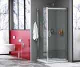 Душевой уголок, квадрат, с поворотно-складной дверью WasserKRAFT Salm 27I02