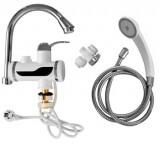 Смеситель с подогревом воды и датчиком температуры проточный MATRIX SMHY30070 с душевой лейкой