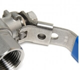 Кран шаровой с замком AISI 304 SM-SB1104 3/4 дюйма F-M (нержавеющая сталь)
