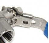 Кран шаровой с замком AISI 304 SM-SB1103 1/2 дюйма F-M (нержавеющая сталь)