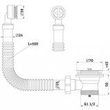 Выпуск в умывальник с переливом АНИ N120S 1-1/2 дюйма